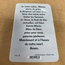 Carte de prière Je vous salue Marie