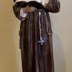 Statue de Saint-Antoine en plâtre