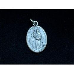 Médaille Saint-Benoit couleur argent