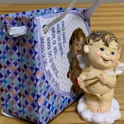 Petit ange enfant en poterie